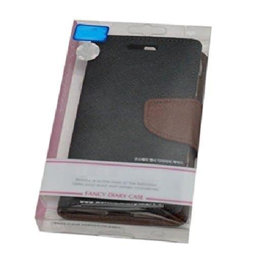 Kapa Mercury Goospery Flip Wallet Case Cover for Moto G2 (2nd Gen) - Black/Brown 7