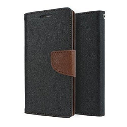Kapa Mercury Goospery Flip Wallet Case Cover for Moto G2 (2nd Gen) - Black/Brown 1