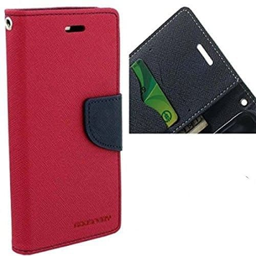 Mercury Diary Wallet Style Flip Cover Case for Xiaomi Redmi Note 3 - Pink - By KPH 1