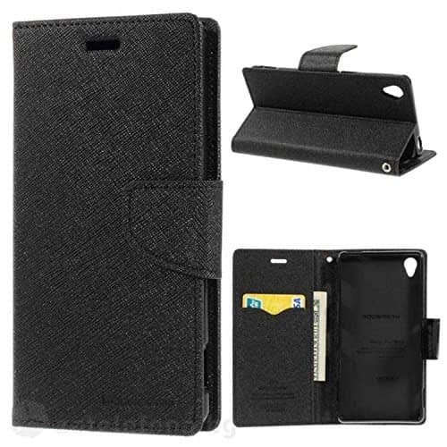 Mercury Goospery Fancy Diary Wallet Flip Case Cover for HTC Desire 826 - Black 1