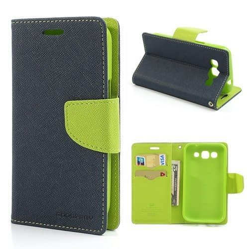 Mercury Goospery Fancy Flip Wallet Case Cover for Samsung Galaxy Grand Quattro i8552 - Green 1