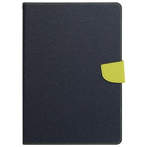 Mercury Goospery Folding Flip Folio PU Leather with 4 card slot Stand Case Cover for Apple iPad Mini 4 - ( Blue + Green ) 1