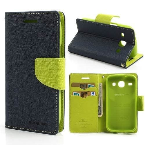 Mercury Goospery Wallet Flip Case Cover for Samsung Grand Prime G530 - Blue/Green 1
