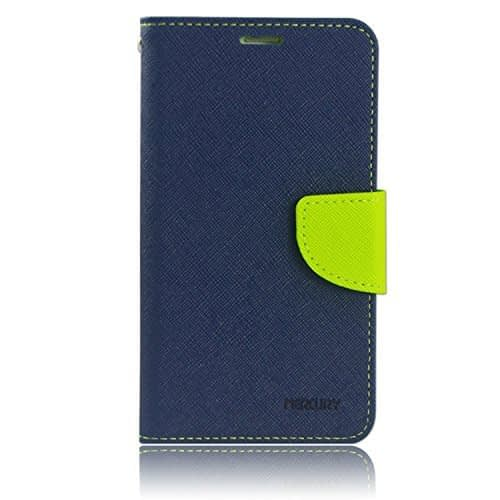 Mercury synthetic leather Wallet Flip Case Cover for Htc Desire 516 Dual Sim - Blue Green 1