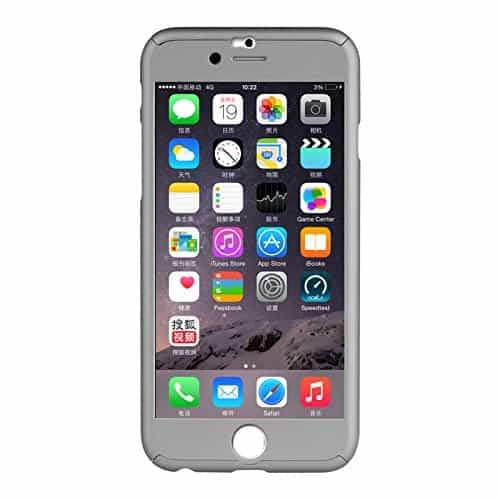"Myclixcart Ipaky Protective Slim Fit Case Cover For Apple Iphone 6 /6S (Grey) - 4.7"" + Tempered Glass Screen Protector 4"