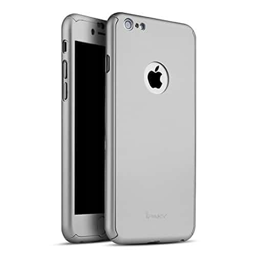 "Myclixcart Ipaky Protective Slim Fit Case Cover For Apple Iphone 6 /6S (Grey) - 4.7"" + Tempered Glass Screen Protector 1"
