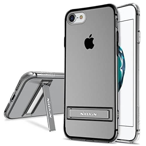 """NILLKIN Crashproof 2 Series Flexible TPU Kick Stand Transparent Back Cover Case for Apple iPhone 7 (4.7"""") ( Grey Color ) 1"""