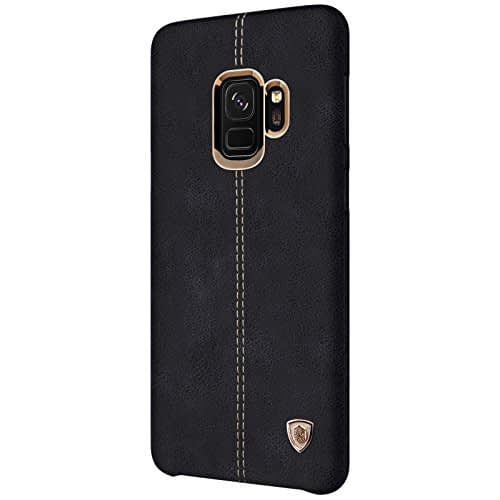 NILLKIN Englon Series Leather Back Cover Case for Samsung Galaxy (Samsung Galaxy S9, Black) 4