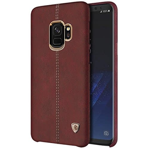 NILLKIN Englon Series Leather Back Cover Case for Samsung Galaxy (Samsung Galaxy S9, Brown) 5