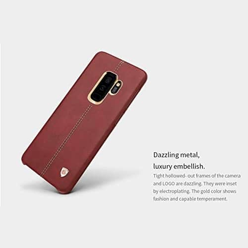NILLKIN Englon Series Leather Back Cover Case for Samsung Galaxy (Samsung Galaxy S9 Plus, Brown) 1