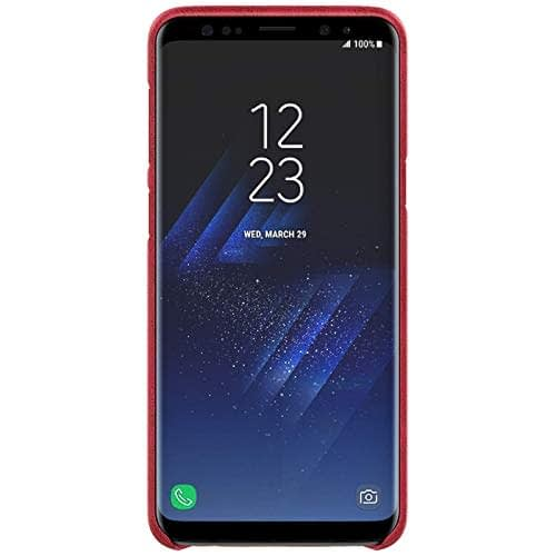 NILLKIN Englon Series Leather Back Cover Case for Samsung Galaxy (Samsung Galaxy S9 Plus, Red) 7