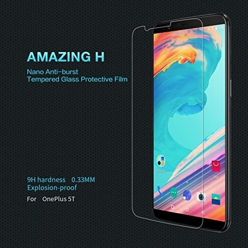 Nillkin Amazing H Nano Anti-Burst Tempered Glass Screen Protector Guard For OnePlus 5T 1