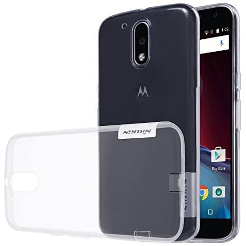 Nillkin Case of Motorola Moto G4 & Motorola Moto G4 Plus Nature Series Back Soft Flexible TPU White 1