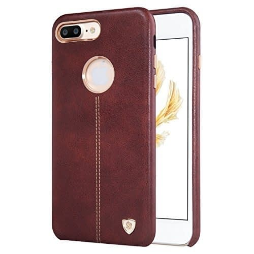 """Nillkin Englon Series Leather Back Luxury Case Cover For Apple Iphone 7 Plus [5.5""""] - Brown 1"""
