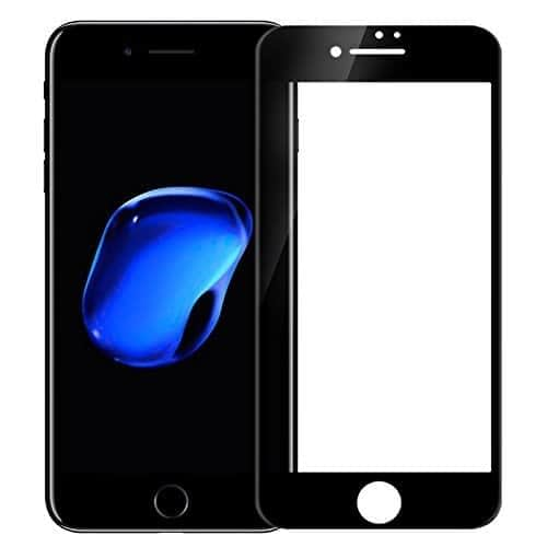 """Nillkin [ For Apple iPhone 7 Plus ( 5.5"""" ) ] 3D CP+ MAX Full coverage Anti-explosion, Anti-fingerprint, Oil Resistance, Shatterproof edge, Anti-glare, Sensitive touch, HD display, Tempered Glass Screen Protector for Apple iPhone 7 Plus ( 5.5 inch ) - Black Color 1"""
