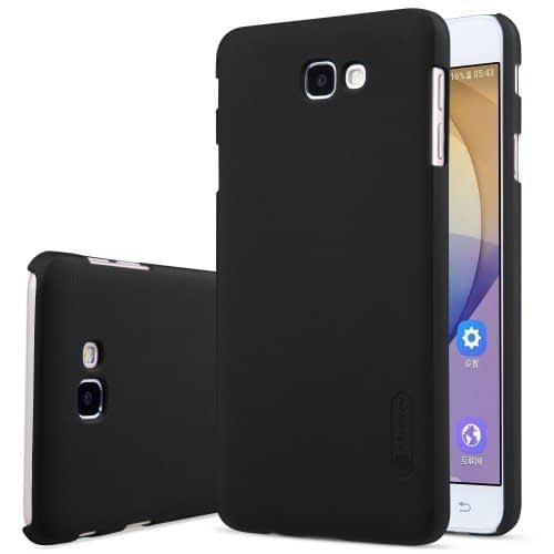 Nillkin Frosted Shield Hard Back Case Cover + Screenguard for Samsung Galaxy J7 Prime - Black 1