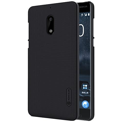 Nillkin Frosted Shield Hard Back Cover Case With Screen Guard for Nokia 6 (Black) 1