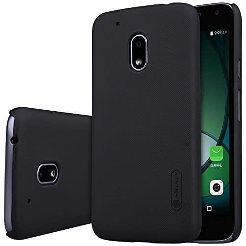 Nillkin Frosted Shield Slim Fit Back Case Cover for Motorola Moto G4 Play (with Nillkin Screen protector) Black 1