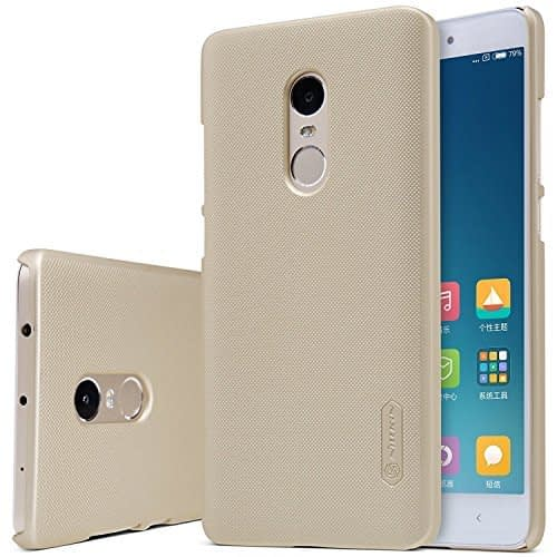 Nillkin Frosted Shield Slim Fit Back Case Cover for Xiaomi Redmi Note 4 (with Nillkin Screen protector) Gold 1
