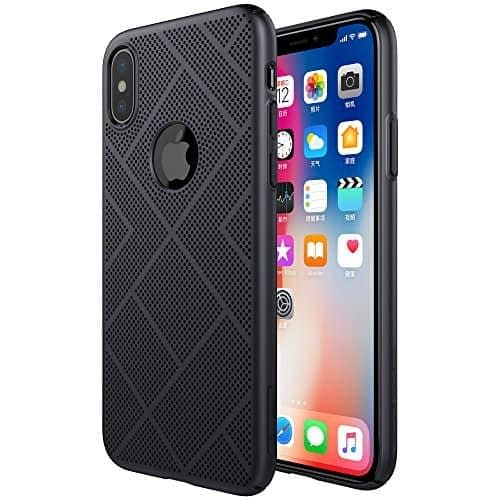 Nillkin Heat Dissipation Hard PC Matte Air Case Back Cover for Apple iPhone X (BLACK) 1