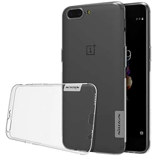 Nillkin Nature Series Clear TPU Silicone Back Cover Soft Case For One Plus 5 Oneplus 5 A5000- Transparent 1