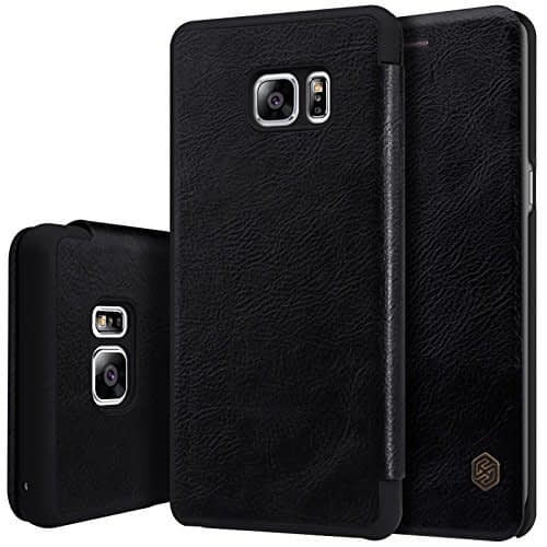 Nillkin QIN Series Luxury Royal Leather Flip Cover Case for Samsung Galaxy Note 7 ( Black ) 1