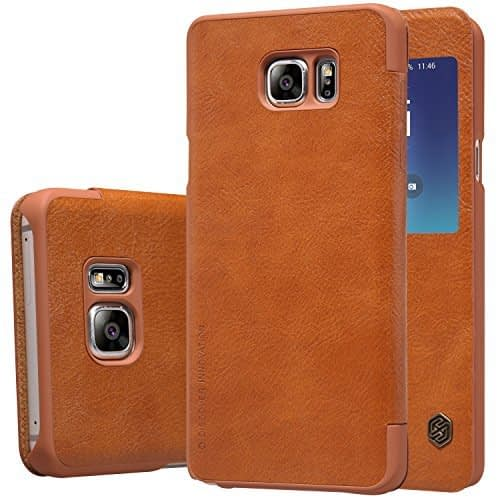 Nillkin QIN Series PU Leather Flip Diary Case Cover for Samsung Galaxy Note 5 N920 - Brown Color 1