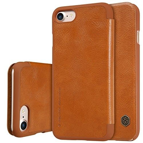 Nillkin Qin Series Leather Flip Case Cover for Apple Iphone 7 - Brown 1
