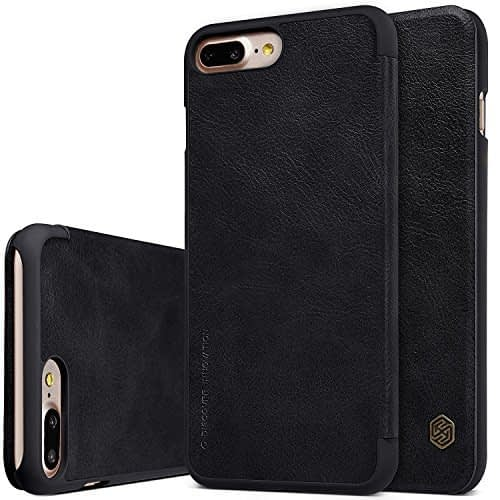 "Nillkin Qin Series Leather Flip Case Cover for Apple Iphone 7 Plus [5.5""] - Black 1"