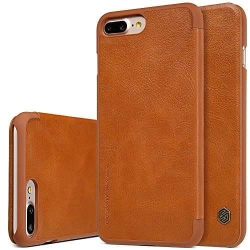"""Nillkin Qin Series Leather Flip Case Cover for Apple Iphone 7 Plus [5.5""""] - Brown 1"""