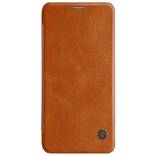 Nillkin Qin Series Leather Flip Case Cover for Samsung Galaxy A6 Plus (2018 Model ) - Brown 3