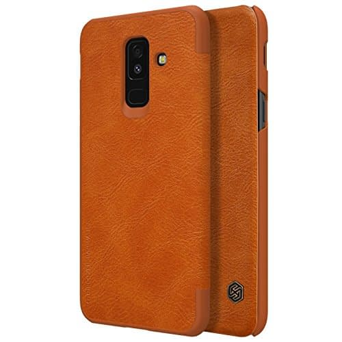 Nillkin Qin Series Leather Flip Case Cover for Samsung Galaxy A6 Plus (2018 Model ) - Brown 6