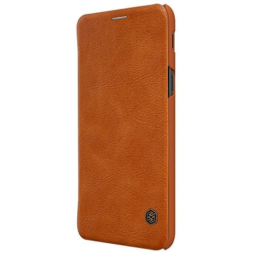 Nillkin Qin Series Leather Flip Case Cover for Samsung Galaxy A6 Plus (2018 Model ) - Brown 7