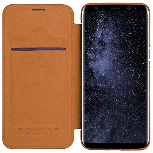 Nillkin Qin Series Royal Leather Flip Case Cover Case For Samsung Galaxy S8 - Brown 1