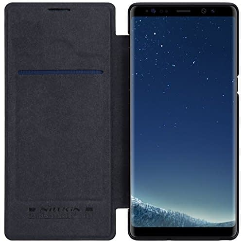 Nillkin Qin Series Royal Leather Flip Case Cover For Samsung Galaxy Note 8 - Black 3