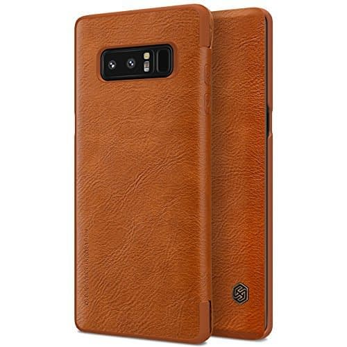 Nillkin Qin Series Royal Leather Flip Case Cover For Samsung Galaxy Note 8 - Brown 1