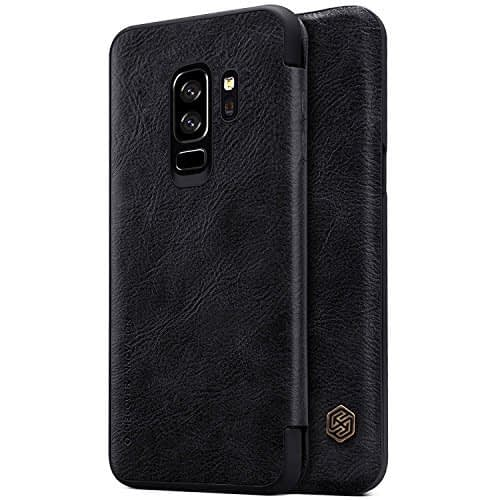 Nillkin Qin Series Royal Leather Flip Case Cover for Samsung Galaxy S9 Plus (BLACK) 1