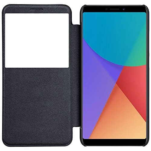 Nillkin Qin Series Royal Leather Flip Cover for Redmi Note 5 Pro(Black) 1