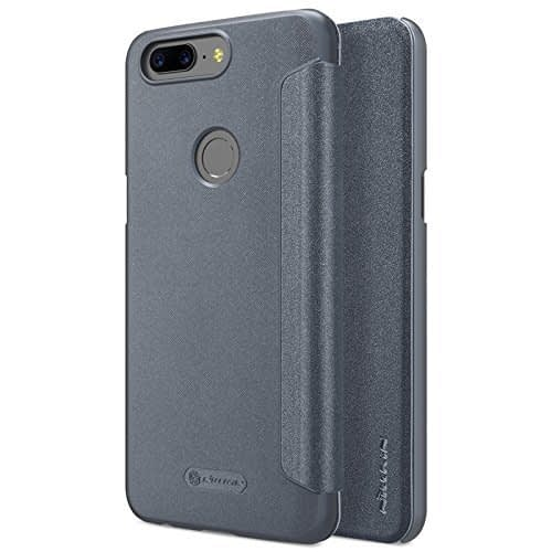 Nillkin Sparkle Leather Flip Cover Case for Oneplus 5t (GREY) 1