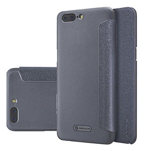Nillkin Sparkle Series Leather Flip Cover Case For Oneplus 5 - Grey Color 1