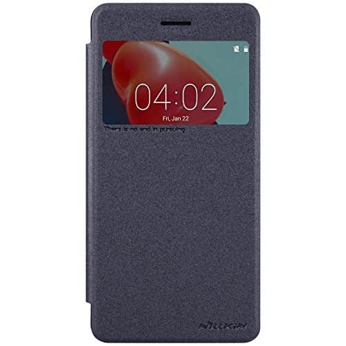 Nillkin Sparkle Series Leather Flip Cover Case for Nokia 6 - Grey Color 1