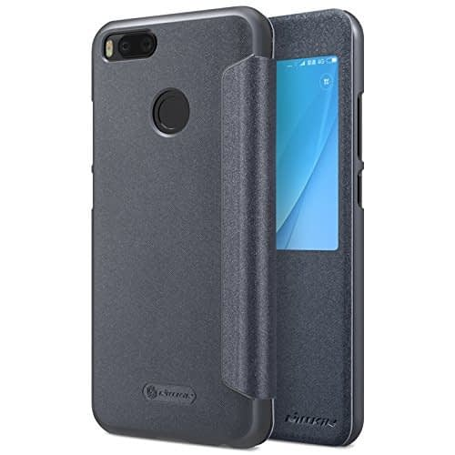 Nillkin Sparkle Series Window With Smart Sleep Function Leather Flip Case Cover for Xiaomi Mi A1 ( Mi 5X ) - Grey Color 1