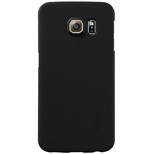 Nillkin Super Frosted Hard Back Case for Samsung Galaxy S6 Edge ( Black Color) + Free Screen Guard 1