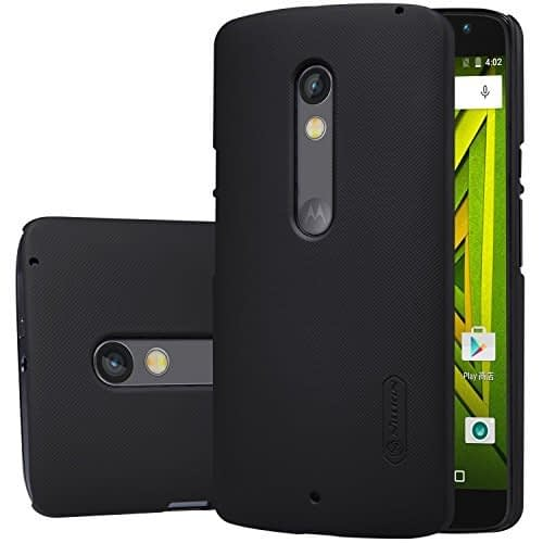 Nillkin Super Frosted Shield Case For Motorola Moto X Play - Black , With Screen Guard 1