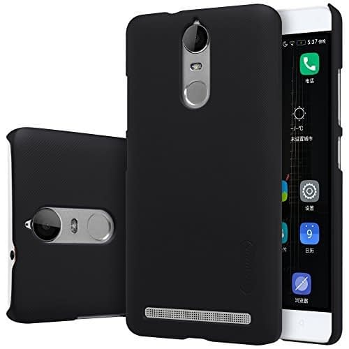Nillkin Super Frosted Shield Hard Back Cover Case for Lenovo K5 Note ( 5.5inch ) ( Color : Black ) + Free Screen guard 1