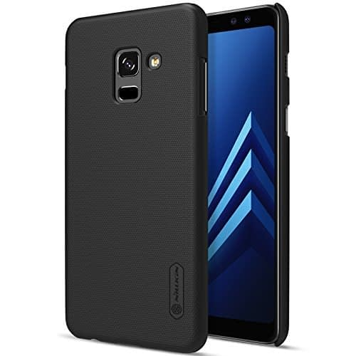 Nillkin Super Frosted Shield Hard Back Cover Case for Samsung Galaxy A8 ( 2018 ) + free Nillkin Screen protector - BLACK 1