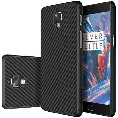 Nillkin Synthetic Fibre Series Back Cover Case for OnePlus 3 (Black) 1