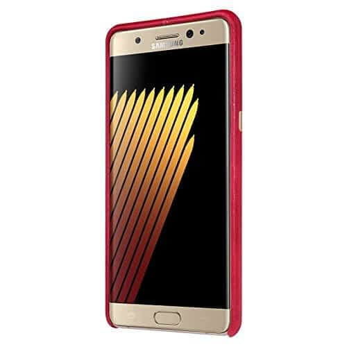 Original NILLKIN Englon Leather Back Cover Case for Samsung Galaxy Note 7 - ( Red Color ) 7