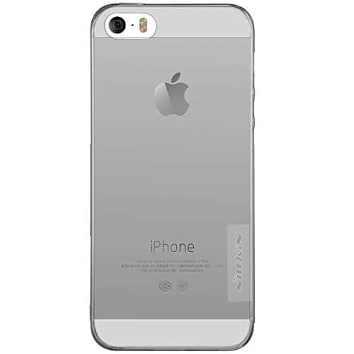 Original Nillkin 0.6MM Nature Soft TPU Back Cover Case for Apple iPhone 5 / 5S / SE - ( Grey Color ) 1