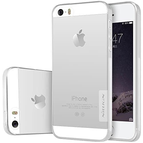 Original Nillkin 0.6MM Nature Soft TPU Back Cover Case for Apple iPhone 5 / 5S / SE - ( White/Transparent Color ) 1